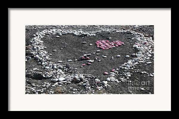 Double Heart On The Beach Framed Print featuring the photograph Double Heart On The Beach by John Rizzuto