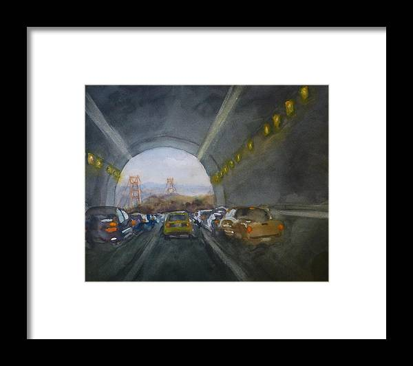 San Francisco Framed Print featuring the painting Double Landscape San Francisco by Robert Tiefenwerth