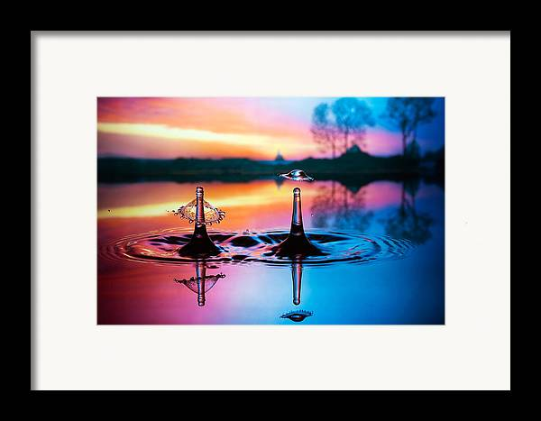 Water Framed Print featuring the photograph Double Liquid Art by William Lee