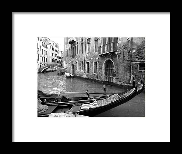 Venice Framed Print featuring the photograph Double Parked by Donna Corless