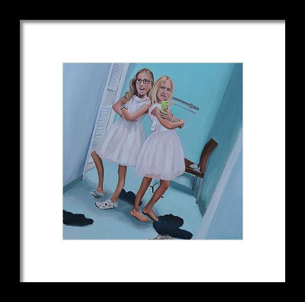 Contemporary Framed Print featuring the painting Double Trouble by Johanna Wray