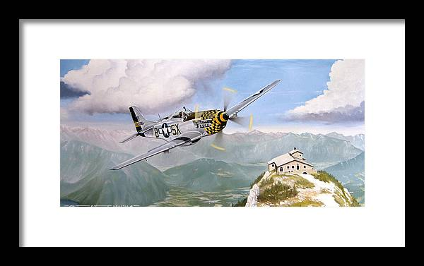 Military Framed Print featuring the painting Double Trouble Over The Eagle by Marc Stewart