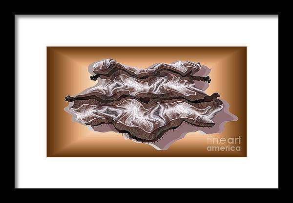 Abstract Framed Print featuring the digital art Doubt Its Redoubt by Ron Bissett