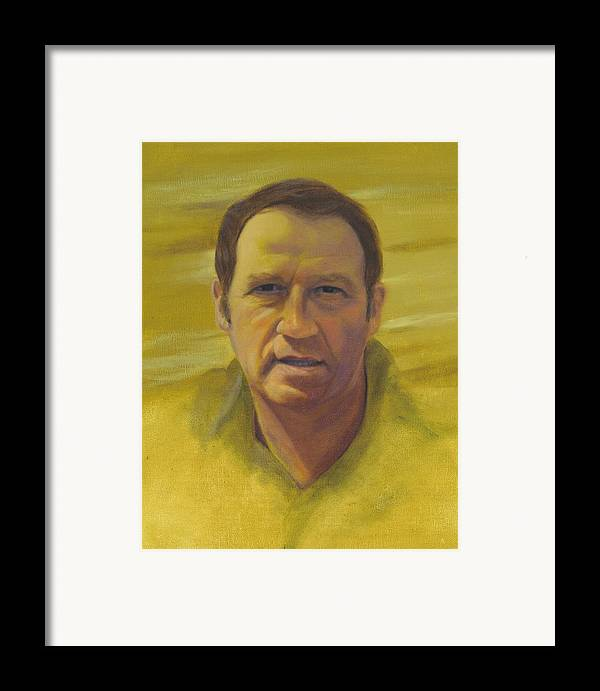 Portrait Framed Print featuring the painting Doug by Laurel Ellis