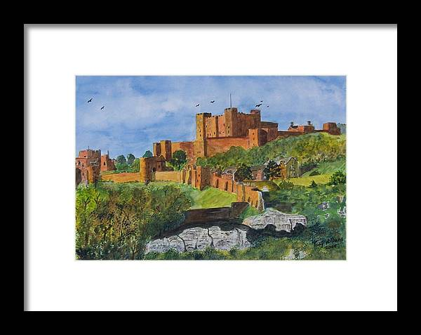Dover Framed Print featuring the painting Dover Castle Kent by Tony Williams