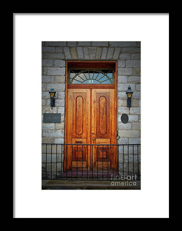 Winchester Framed Print featuring the photograph Dowdall Doors by Jost Houk