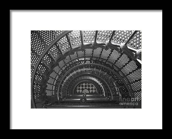 Black Framed Print featuring the photograph Down Below by Jack Norton