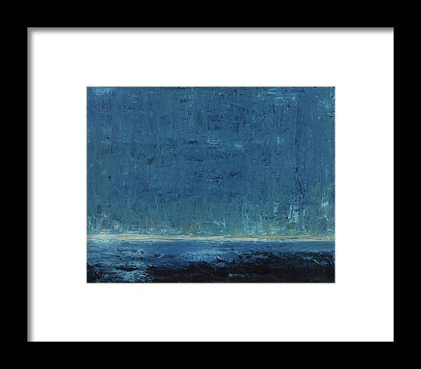 Abstract Framed Print featuring the painting Down Comes The Night by K Batson Art
