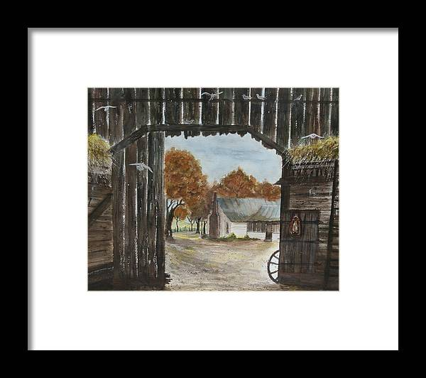 Grandpa And Grandma's Homeplace Framed Print featuring the painting Down Home by Ben Kiger