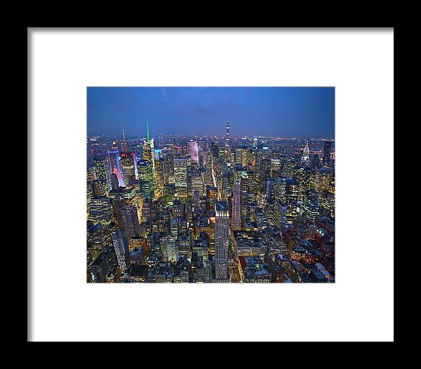 Ny Framed Print featuring the photograph Down In The City by Brian Knott Photography