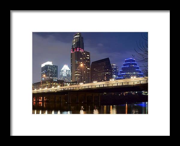 Austin Framed Print featuring the photograph Down In The Park by Frozen in Time Fine Art Photography