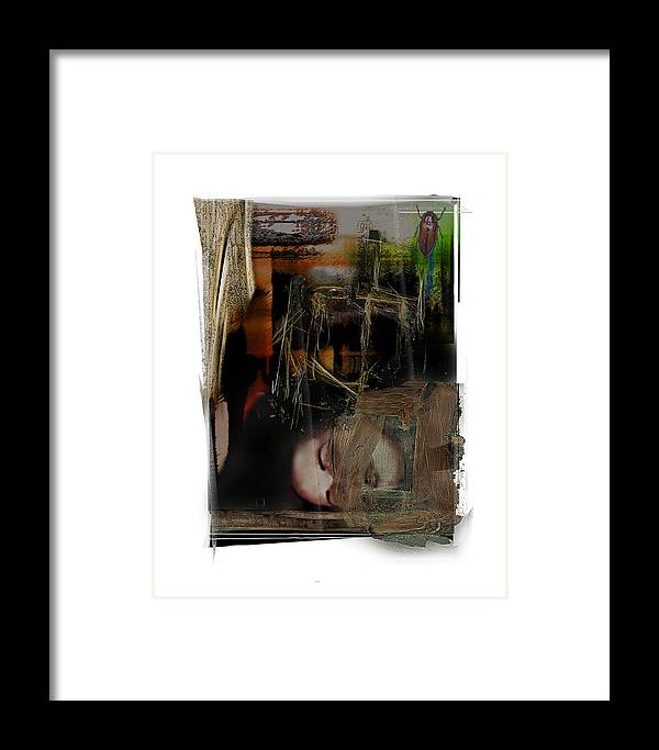 Portrait Framed Print featuring the digital art Down by Nuff