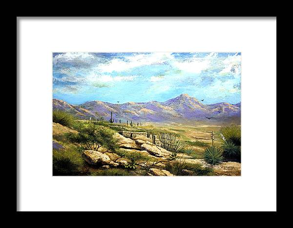 Landscape Framed Print featuring the painting Down Sedona Way by Brooke Lyman