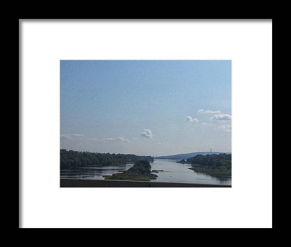 Bay Framed Print featuring the photograph Down Stream by Teresa J Bowman