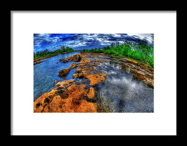 Color Framed Print featuring the photograph Down The Fall by Tom Melo