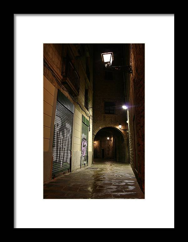 Barcelona Framed Print featuring the photograph Down The Path by Jason Hochman
