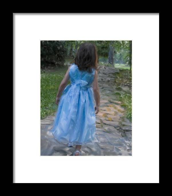 Art Framed Print featuring the photograph Down The Path by Sandy Belk