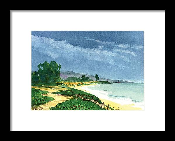 Steps To The Beach Framed Print featuring the painting Down To The Beach by Ray Cole
