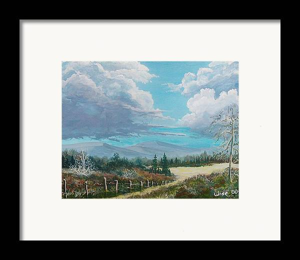 Lanscape Framed Print featuring the painting Down To The Meadow by John Wise