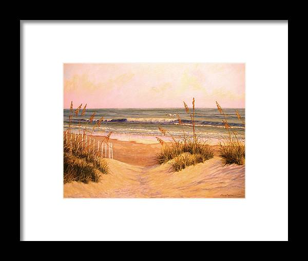 Framed Print featuring the painting Down To The Sea by Elaine Bigelow