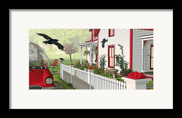 Victorian House Framed Print featuring the photograph Downeast Morning by Peter J Sucy