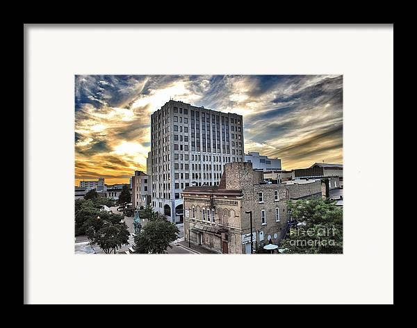 Appleton Framed Print featuring the photograph Downtown Appleton Skyline by Mark David Zahn