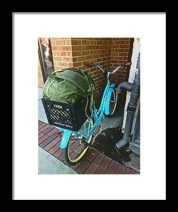 Bike Framed Print featuring the photograph Downtown Bike by Dayton Preston