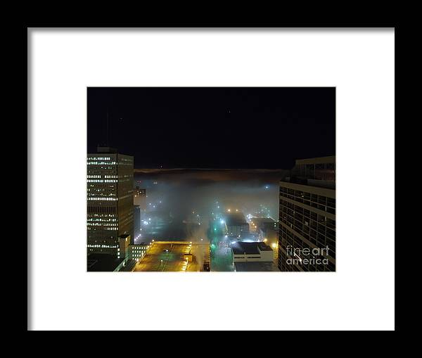 Photograph Framed Print featuring the photograph downtown Calgary2 by Seon-Jeong Kim