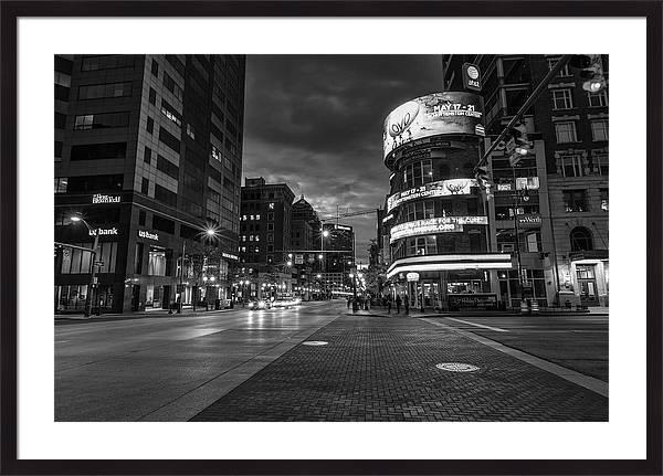 Downtown Cloumbus Ohio Black and White  by John McGraw