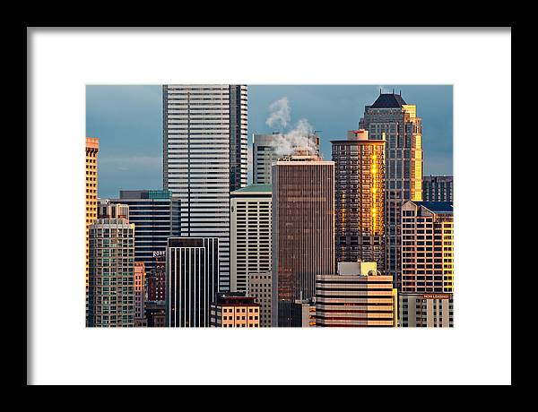 Buildings Framed Print featuring the photograph Downtown Detail by Thorsten Scheuermann