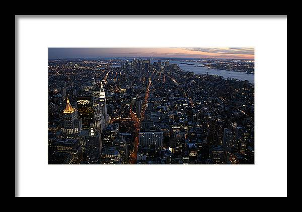 Manhattan Framed Print featuring the photograph Downtown From Midtown by Joshua Francia