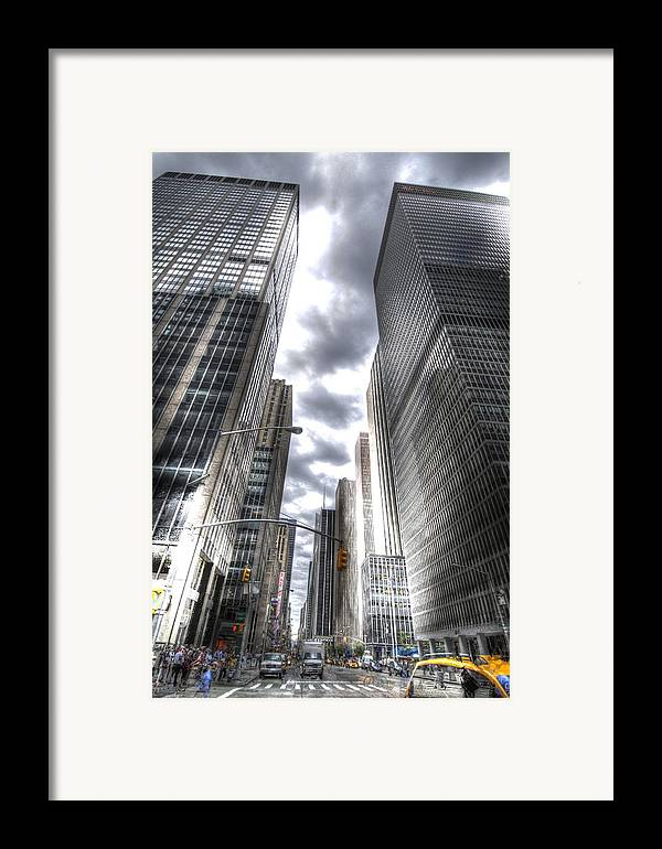 City Framed Print featuring the photograph Downtown Hdr by Robert Ponzoni