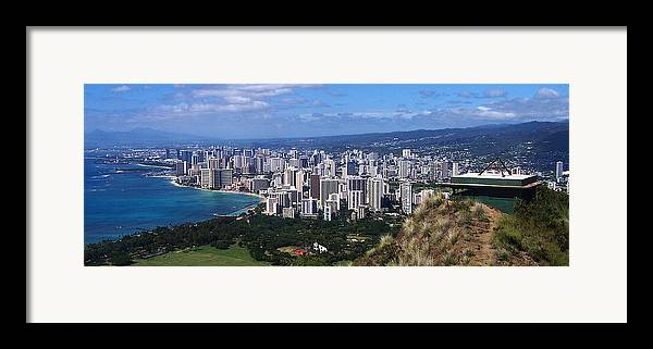 Landscape Framed Print featuring the photograph Downtown Honolulu by Michael Lewis