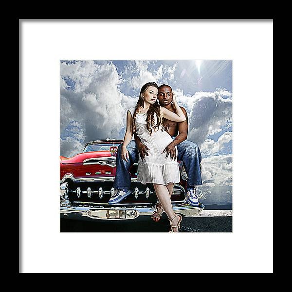 Auto Framed Print featuring the photograph Downtown by Jeff Burgess