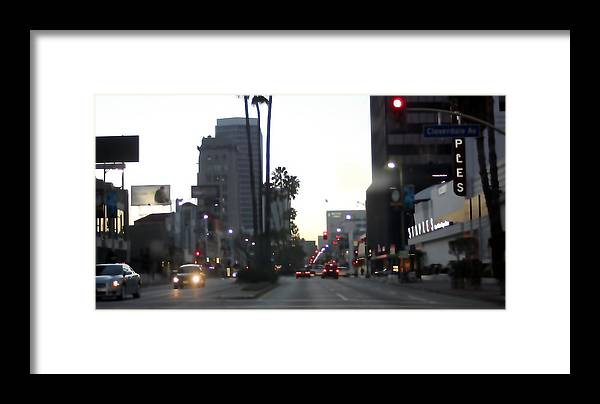 Skyscrapers Framed Print featuring the photograph Downtown Los Angeles 0698 by Edward Ruth