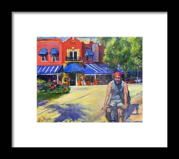 Delray Beach Framed Print featuring the painting Downtown Morning by Patricia Maguire
