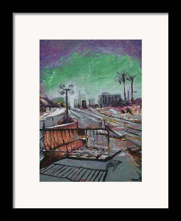 Framed Print featuring the painting Downtown Now In Progress by Aleksandra Buha