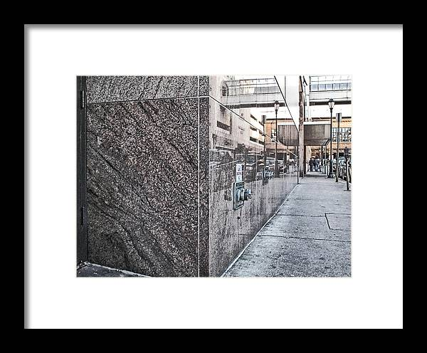 Street Framed Print featuring the photograph Downtown Philadelphia by Anthony Rapp