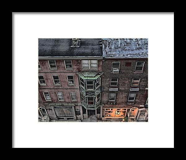 Downtown Framed Print featuring the photograph Downtown Philadelphia Building by Anthony Rapp