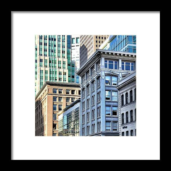 Framed Print featuring the photograph Downtown San Francisco by Julie Gebhardt