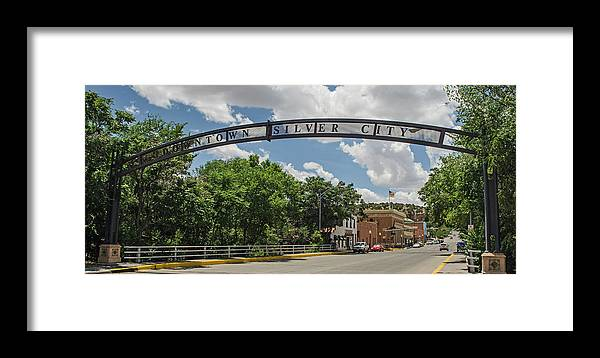 New Mexico Framed Print featuring the photograph Downtown Silver City by Allen Sheffield