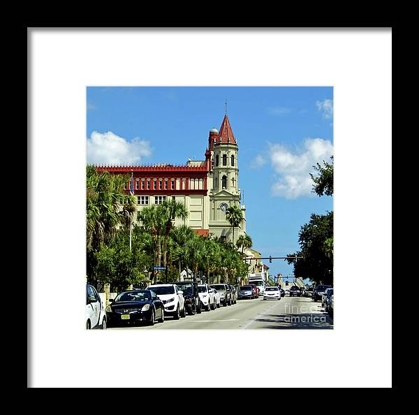 Oldest City Framed Print featuring the photograph Downtown St Augustine by D Hackett