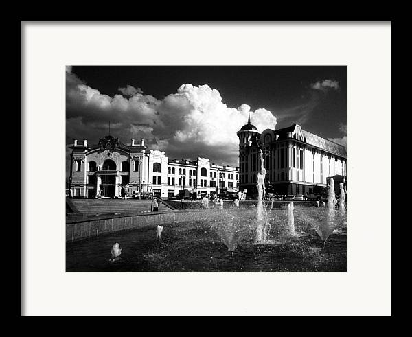 Cityscape Framed Print featuring the photograph Downtown Tomsk by Susan Chandler