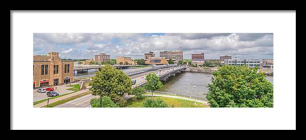 Waterloo Framed Print featuring the photograph Downtown Waterloo Iowa by Amel Dizdarevic