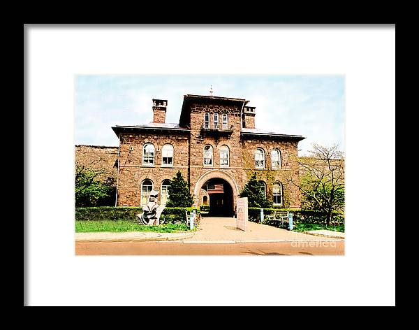 Photography Framed Print featuring the photograph Doylestown-michener Museum by Addie Hocynec