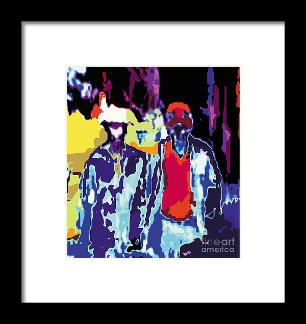 People Framed Print featuring the digital art Dr by Caddelle Faulkner