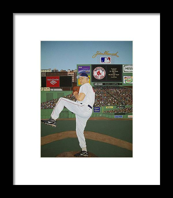 Baseball Framed Print featuring the painting Dr. Hoss by Sandra Poirier