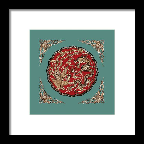Dragon And Phoenix Framed Print featuring the photograph Dragon and Phoenix by Kristin Elmquist