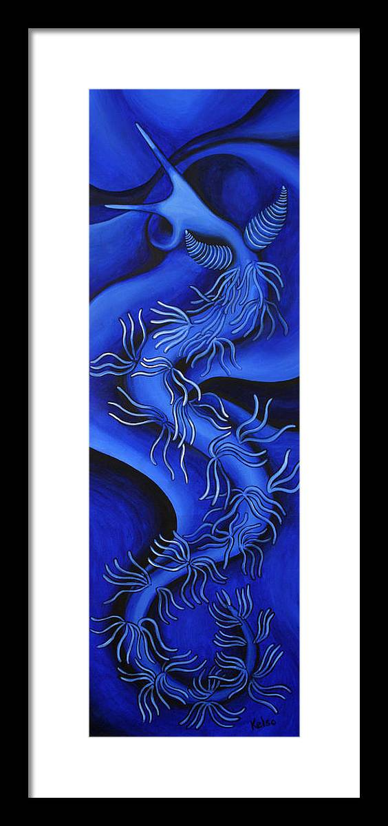 Kelso Framed Print featuring the painting Dragon by Bonnie Kelso