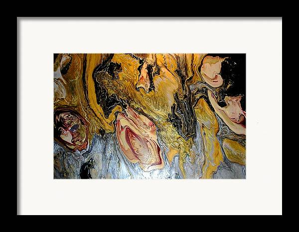 Abstract Framed Print featuring the painting Dragon Dream by Patrick Mock